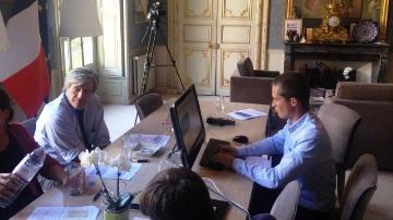 Stéphane Le Foll pendant le tchat sur Terre-net.fr