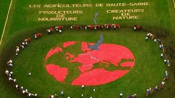 Des fresques agricoles fleurissent sur les chemins du Tour de France