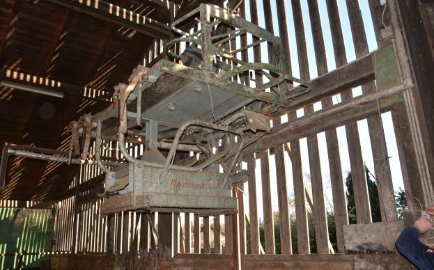 Cage de parage monté sur un treuil