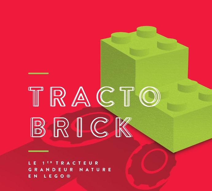 Tracteur - TractoBrick, un tracteur Claas Arion 460 grandeur nature en Lego