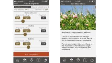 Une appli mobile pour calculer les doses demélange de semences prairiales
