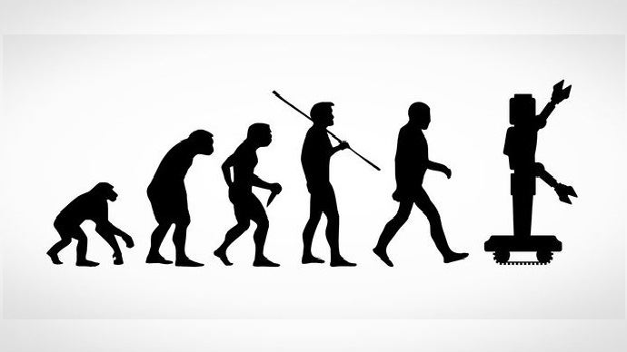 Schéma évolution espèce humaine