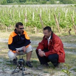 Le drône de la société Fly n sense a été testé dans des vignobles du bordelais en 2011