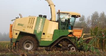 chenilles Zuidberg Tracks sur ensileuse Krone Big X