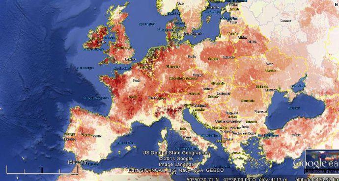 Répartition des bovins en Europe