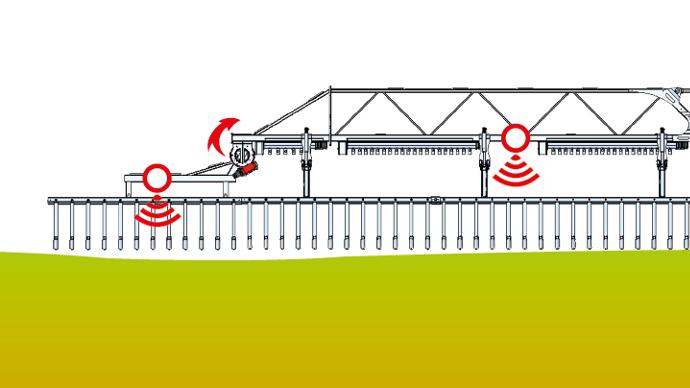 Chaque tronçons dispose d'un capteur pour un suivi parfait du sol.
