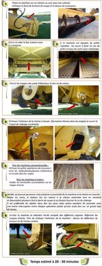 Les huit étapes à suivre pour nettoyer en 20-30 minutes la moissonneuse-batteuse entre deux parcelles