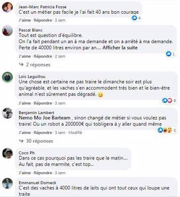 posts facebook suppression de la traite du dimanche soir