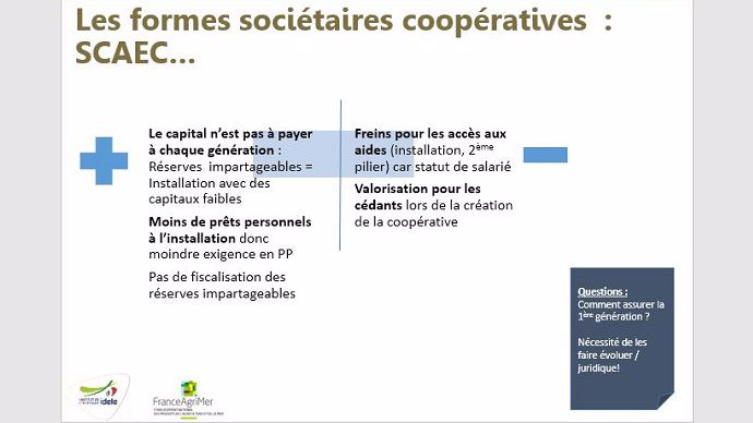 financement installation agricole societes cooperatives