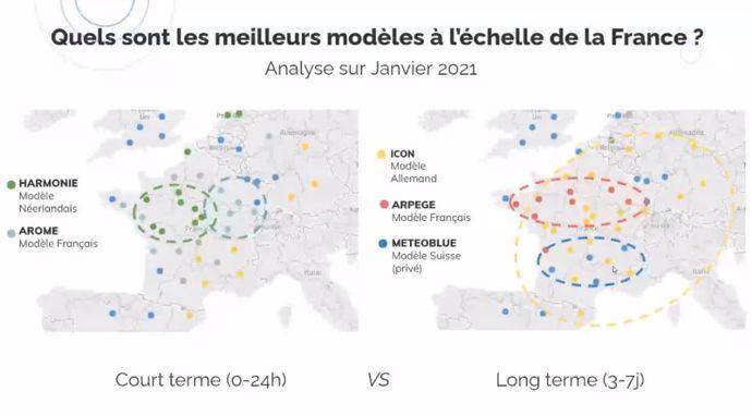 Les meilleurs modèles météo à l'échelle de la France