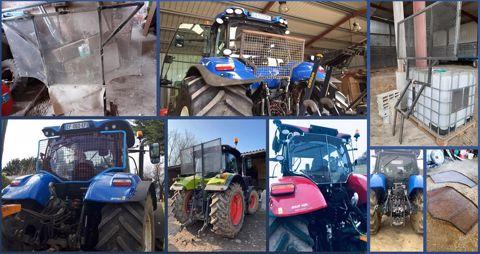 Grilles de protection pour vitre de tracteur