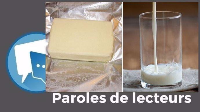 beurre et lait