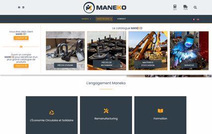 Site e-commerce Maneko
