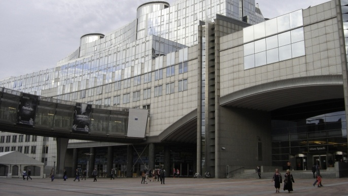 Parlement européen à Bruxelles.