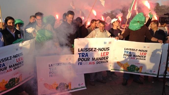 Manifestation à l'appel de la Fnsea à Paris