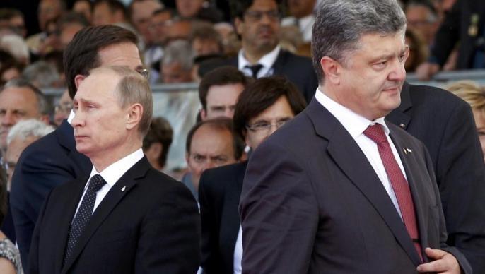 Petro et Vladimir Poutine.