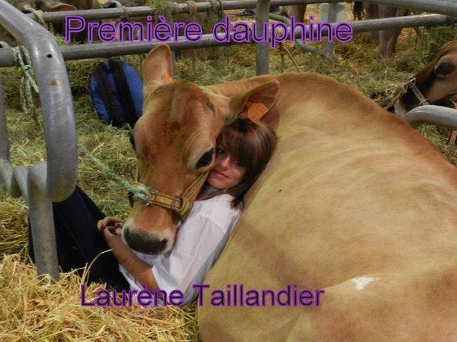 Laurène Taillandier, élue 1ère dauphine miss France agricole 2015