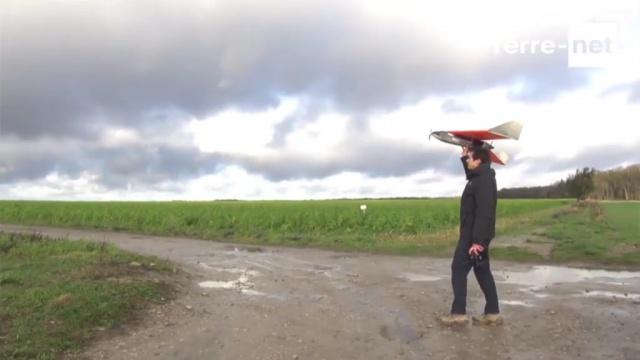 Alexandre Vilain, agriculteur et pilote de drones pour Airinov