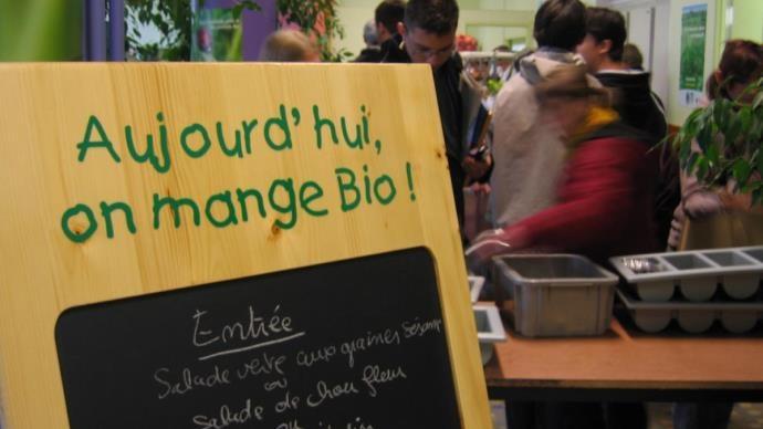 Debut 2015 en France, 59% des établissements de restauration déclaraient proposer des produits biologiques à leurs convives.