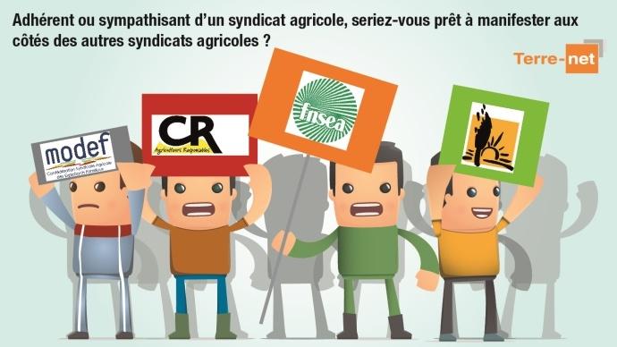 Manifestations agricoles intersyndicales