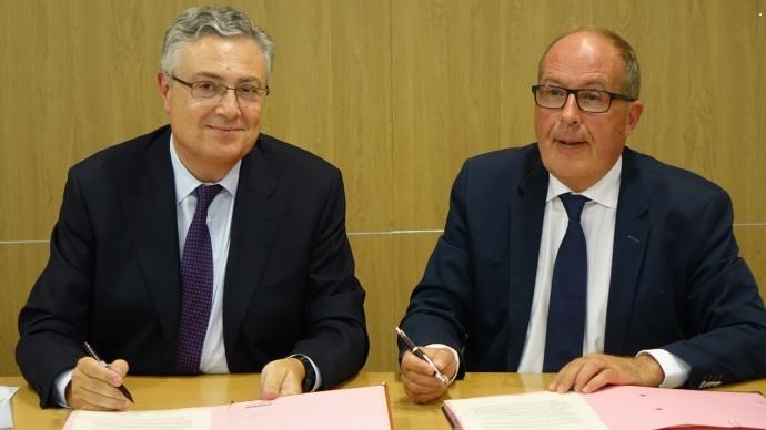Jacques Creyssel, déléguégénéral de la Fnd, et Philippe Mangin, président de Coop de France