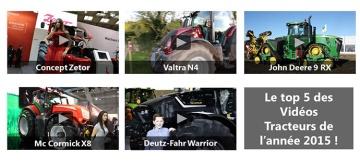 Le top 5 des vidéos de tracteurs de l'année 2015 (2e partie)