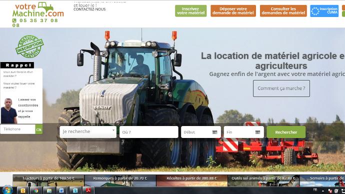 Site de location de matéirel agricole