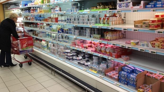 rayon produits laitiers d un supermarche