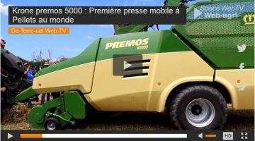 Krone Premos 5000: première presse mobile à pellets au monde