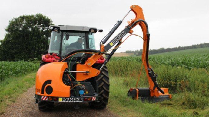 Rousseau E-Kastor, un hybride bras hydraulique et rotor électrique