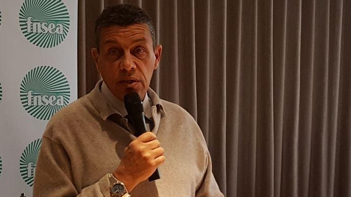 Xavier beulin le 5 janvier 2017 lors de la présentation des voeux de la FNSEA à la presse.