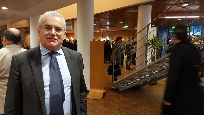 Michel Dantin, eurodéputé, intervenait au congrès de l'AGPB à Orléans, jeudi 9 février 2017.