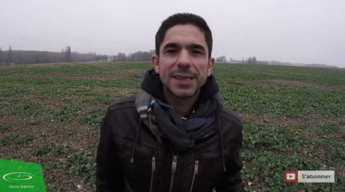 David Forge, agriculteur et youtubeur installé en Indre-et-loire.