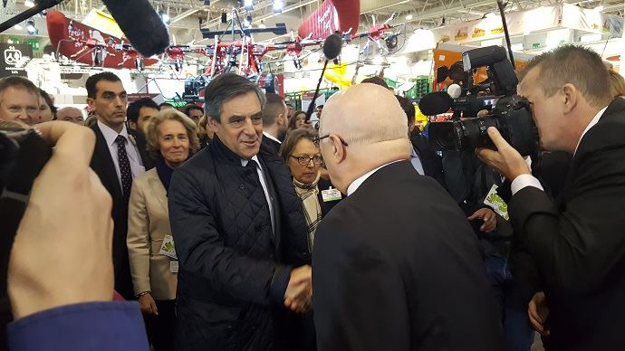 François Fillon, candidat LR à la Présidentielle 2017, est le seul candidat ayant prévu une visite au Sima 2017.