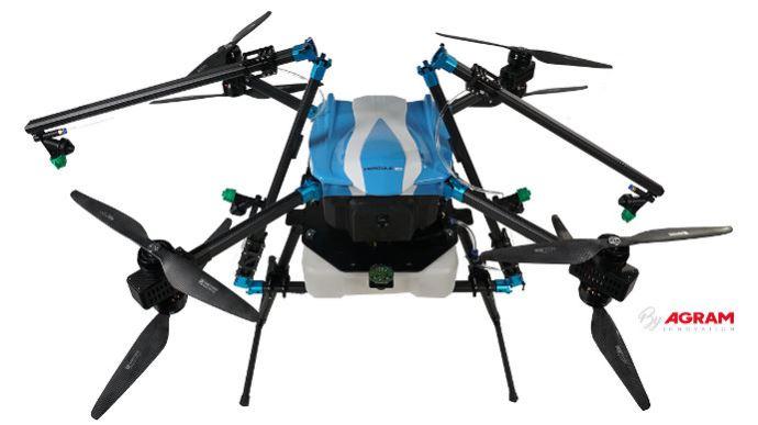 Le Hercule 20 de chez Agram est l'un des tout premier drone de pulvérisation en France
