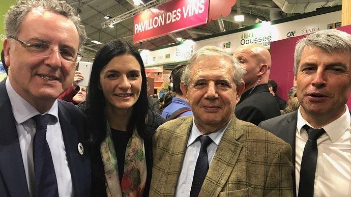 Aux côtés de Richard Ferrand, Audrey Bourolleau et Olivier Allain, ici au Salon de l'agriculture le 1er mars dernier, Jacques Mezard est le nouveau ministre de l'agriculture.