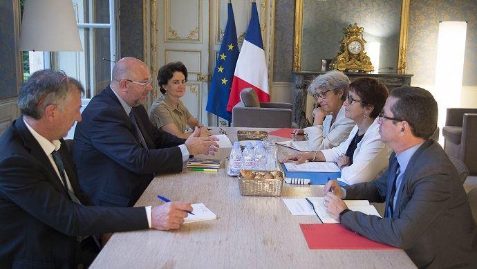 Stéphane Travert a recu les représentants de la FNSEA mardi 27 juin 2017.
