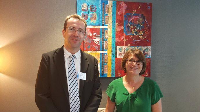 Pierre Prim (Président) et Anne Fradier (secrétaire général) du Sedima