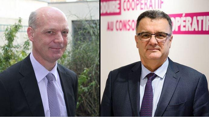 Pascal Viné, délégué général de Coop de France, et Michel Prugue, président de l'organisation, ont fait 10 propositions dans le cadre des Etats généraux de l'alimentation.