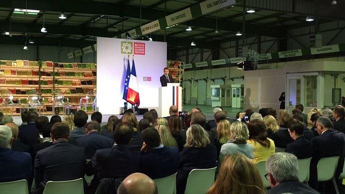 A Rungis, mercredi 11 octobre 2017, Emmanuel Macron a prononcé un discours de politique agricole qui fera probablement date pour son quinquennat à l'Elysée