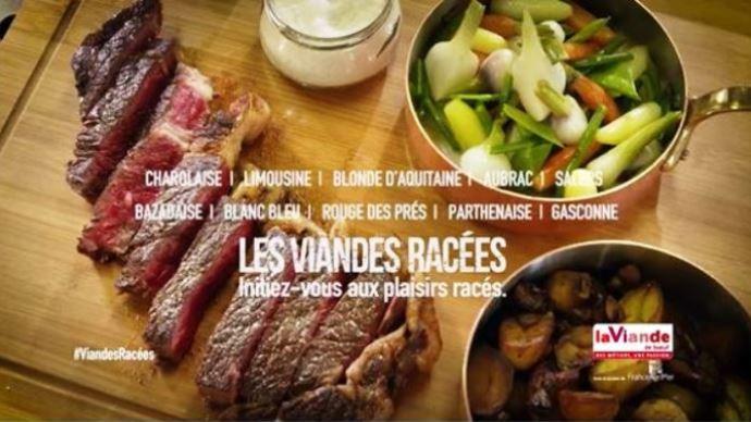 Les spots publicitaires d'Interbev sur les viandes racées a pour objectif de promouvoir les races allaitantes et leurs qualités