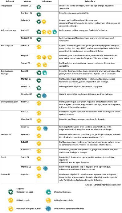 Variétés de maïs Caussade Semences