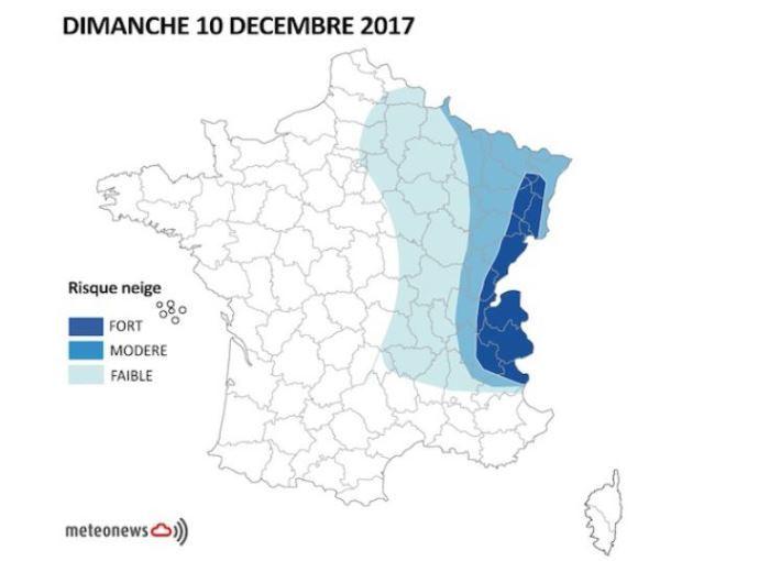 Météo Dimanche 10 décembre 2017