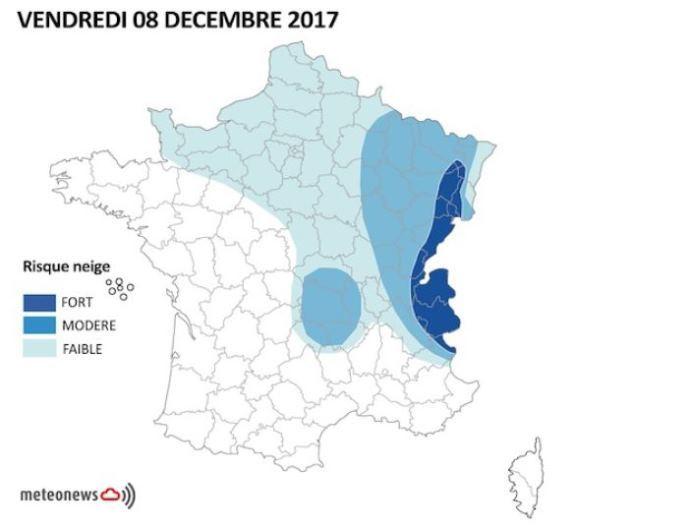 Météo Vendredi 8 décembre 2017