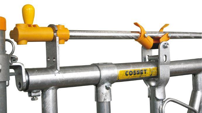 Sur les nouveaux cornadis de Cosnet les commandes et les taquets sont en nylon pour les rendre plus silencieux.