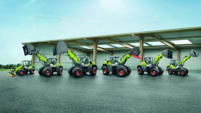 Claas dispose maintenant d'une gamme de chargeuses sur pneus très complète