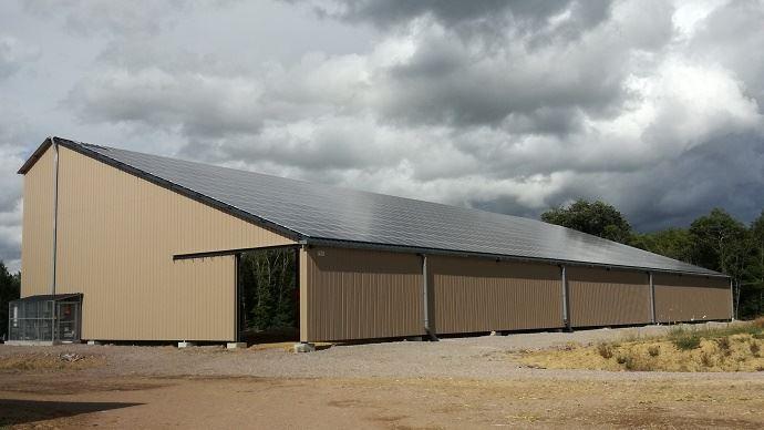 Financement de b timents agricoles par l 39 nergie photovolta que - Hangar photovoltaique agricole ...
