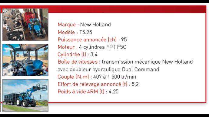 Caractéristiques techniques du New Holland T5.95.