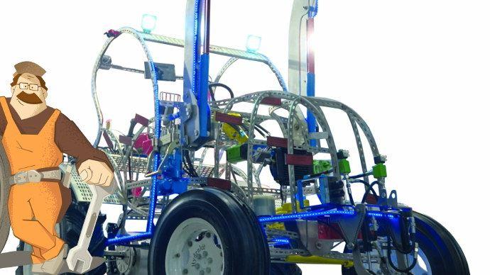 La maquette du tracteur Hydrokit, un concentré de solution hydraulique pour l'agriculture