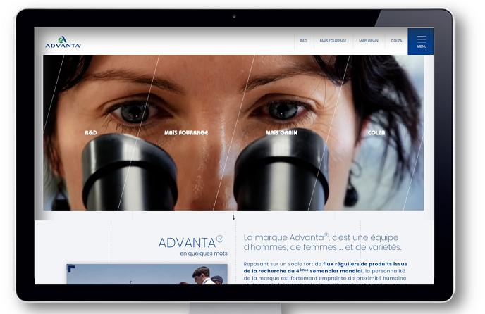 Nouveau site Internet d'Advanta